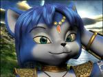 3d anthro black_nose blue_fur blue_hair canine female fox fur green_eyes hair jtp117 krystal mammal necklace nintendo shoulder_pads solo star_fox tribal video_games white_fur   Rating: Safe  Score: 0  User: Cαnε751  Date: March 03, 2015