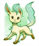 ambiguous_gender eeveelution eternity_zinogre feral fur leafeon looking_at_viewer nintendo pokémon simple_background smile solo video_games