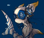 :< ambiguous_gender cyberpunk dorsal_fin e621 eyewear fin fish goggles marine mascot mascot_contest mellis plug reflection screw shark solo young   Rating: Safe  Score: 24  User: mellis  Date: February 02, 2010