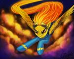 cloud equine eyewear female feral fire friendship_is_magic goggles horse magpie_(artist) mammal my_little_pony pegasus pony solo spitfire_(mlp) wings wonderbolts_(mlp)   Rating: Safe  Score: 7  User: slyroon  Date: February 12, 2014