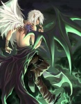 bangles black_wing clothing cloud cracked_skin deity elf feather grey_eyes hair leather pants topless unknown_artist white_hair white_wing   Rating: Questionable  Score: 2  User: KishinWolf  Date: April 21, 2009