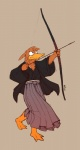 2011 archer arrow avian bow_(weapon) brown_feathers charlie clothed clothing duck feathers japanese_clothing kimono male plain_background ranged_weapon redic-nomad samurai solo warrior weapon   Rating: Safe  Score: 1  User: toki  Date: February 23, 2012