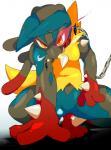 ambiguous_gender anthro blue_fur canine chain collar fur hi_res looking_at_viewer mammal mega_evolution mega_lucario nintendo of_jin pokémon red_eyes video_games  Rating: Safe Score: 10 User: Rad_Dudesman Date: February 16, 2016