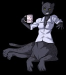 chakat chakat_liana clothed clothing coffee female solo spots taur   Rating: Safe  Score: 0  User: Anthropicus  Date: June 22, 2013
