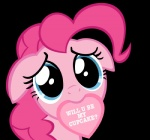 2014 <3 alpha_channel blue_eyes cute digital_media_(artwork) earth_pony english_text equine female feral friendship_is_magic fur hair holidays horse looking_at_viewer mammal mouth_hold my_little_pony pink_fur pink_hair pinkie_pie_(mlp) pony simple_background solo stealth1546 text transparent_background valentine's_day vector