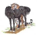 duo ebonytigress equine feline feral horse interspecies male male/male mammal predator/prey_relations tiger  Rating: Questionable Score: 15 User: Vinea Date: June 23, 2015