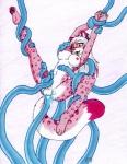 anthro arms_above_head balls blush bound breasts dickgirl feline fur hands_tied intersex legs_tied leopard mammal masturbation penetration penis pink_fur smile solo spread_legs spreading tentacles tierafoxglove  Rating: Explicit Score: 16 User: Wolframite Date: September 06, 2013