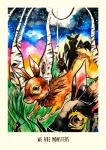 ambiguous_gender arthropod centipede clara_bacou colorful english_text forest grass lagomorph mammal moon outside rabbit sky star text traditional_media_(artwork) tree watercolor_(artwork)  Rating: Safe Score: 0 User: slyroon Date: July 20, 2014