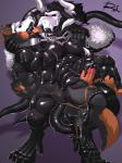 2017 4_toes 5_fingers abs anthro biceps black_fur black_sclera blush chain claws collar corruption digital_drawing_(artwork) digital_media_(artwork) duo erection fur goo_transformation hi_res liquid_latex male mammal markings mulscular muscular muscular_male nude oral orange_fur pecs penis reclamon rubber shiny simple_background skull teeth toe_claws toes transformation unknown_speciesRating: ExplicitScore: 3User: meowmcmeowDate: March 20, 2018