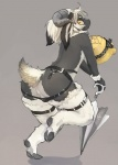 anthro backless_panties bell blush bulge butt caprine clothing girly goat hi_res hooves leather liki looking_at_viewer looking_back male mammal panties plain_background pose solo standing umbrella underwear yellow_eyes   Rating: Questionable  Score: 16  User: queue  Date: September 17, 2011