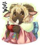 blonde_hair caprine clothing eating female hair holidays japanese_clothing kemono koishi_chikasa mammal new_year ramen sheep yellow_eyes   Rating: Safe  Score: 0  User: KemonoLover96  Date: April 26, 2015