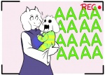 anthro asriel_dreemurr boss_monster caprine cub cute duo female goat jarofmud lol_comments male mammal toriel undertale video_games young