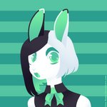 1:1 ame-kumo anthro clothing female gasp lagomorph leporid lineless looking_at_viewer mammal rabbit solo solo_focus