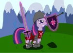 armor equine female feral friendship_is_magic horn knight mammal melee_weapon my_little_pony shield solo sword tamarapeluso twilight_sparkle_(mlp) unicorn weapon  Rating: Safe Score: 0 User: Big_Macintosh Date: June 07, 2011