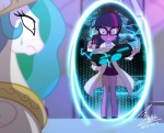 2015 bluse clothing crown electricity equestria_girls equine eyewear female friendship_is_magic glasses gold gun hair horn human insane lab_coat mammal my_little_pony necklace nervous portal princess_celestia_(mlp) purple_eyes purple_hair ranged_weapon rape_face smile sweat twilight_sparkle_(eg) twilight_sparkle_(mlp) weapon winged_unicorn wings   Rating: Safe  Score: 10  User: 2DUK  Date: March 26, 2015