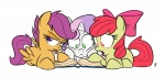 2013 amber_eyes apple_bloom_(mlp) book bow cub cutie_mark_crusaders_(mlp) equine female feral friendship_is_magic fur glancojusticar green_eyes group hair hair_bow horn horse lying mammal multicolored_hair my_little_pony orange_feathers orange_fur pegasus pink_hair plain_background pony purple_eyes purple_hair reading red_hair scootaloo_(mlp) sweetie_belle_(mlp) tongue tongue_out two_tone_hair unicorn white_background white_fur wings yellow_fur young   Rating: Safe  Score: 8  User: Granberia  Date: July 29, 2013