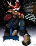 2014 antlers blizzard boots caribou catmonkshiro cervine christmas clothing coat deer elk gloves hat holidays hooves horn lights male night reindeer rudolph santa_hat scarf shovel snow snowflakes snowstorm torn_clothing transformation   Rating: Safe  Score: 3  User: PheagleAdler  Date: January 11, 2014