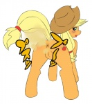 alexandraflordicharlotte anus applejack_(mlp) blush butt cutie_mark fart fart_fetish female friendship_is_magic green_eyes hat headwear japanese_text my_little_pony plain_background presenting presenting_hindquarters pussy solo text   Rating: Explicit  Score: -2  User: Percotech  Date: May 16, 2015