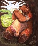 balls bear bear_form brown_fur dakota-bear druid erection feral fur hi_res honey magic_user male mammal markings overweight penis solo tribal_spellcaster video_games warcraft  Rating: Explicit Score: 7 User: Vinea Date: May 26, 2015