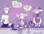 2017 annoyed anthro basitin bow_tie cake clothed clothed_feral clothing crown dessert dialogue dress english_text eyes_closed fake_cat_ears fake_ears fake_rabbit_ears female feral food fork glass grin group holding_object human ice_cream keith_keiser knife madelyn_adelaide maid_uniform male mammal monochrome mrs_nibbly_(twokinds) partially_clothed purple_background rodent simple_background sketch smile squirrel text tiara tom_fischbach topless trace_legacy twokinds uniform webcomicRating: SafeScore: 9User: Iago1Date: September 17, 2017