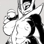 anthro avian big_breasts bird black_and_white breasts burquina chubby claws empoleon female monochrome nintendo nipples penguin pokéball pokémon pokémorph simple_background solo video_games  Rating: Questionable Score: 12 User: chdgs Date: August 28, 2011