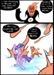 <3 battle big_macintosh_(mlp) cloak clothing comic earth_pony equine explosion feral friendship_is_magic group hair horn horse magic mammal metal_(artist) my_little_pony pony scratches simple_background skull twilight_sparkle_(mlp) unicornRating: SafeScore: 0User: IndigoHeatDate: March 25, 2017
