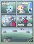 braviary comic female male mienshao nintendo pokémon pokémon_(species) pokémon_mystery_dungeon racingwolf_(artist) skitty squirtle video_games