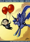 2015 balloon banana crossover cutie_mark duo equine female feral flying food friendship_is_magic fruit headphones headset horn human john_joseco mammal my_little_pony nintendo princess_luna_(mlp) rip_iwata sad satoru_iwata tears video_games winged_unicorn wings  Rating: Safe Score: 28 User: Robinebra Date: July 13, 2015