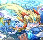 absurd_res animal_genitalia blue_eyes blush canine cetacean claws coral genital_slit hi_res looking_at_viewer male mammal marine may_(artist) penis precum shaorune slit solo sunlight sweat tales_of_rebirth tapering_penis underwater water   Rating: Explicit  Score: 0  User: chdgs  Date: March 27, 2015