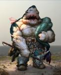 anthro armor beach belt biceps big_muscles blue_skin boots clothing fangs fish footwear grey_skin harpoon hunter male marine maxim_verehin mermaid muscles open_mouth pants pecs polearm pose scales scar sea seaside shark solo spear standing teeth toned topless water weapon white_skin   Rating: Safe  Score: 15  User: Acolyte  Date: January 05, 2014