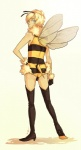 2011 antennae arthropod bee boots bulge butt clothing costume crossdressing cyan_eyes digital_media_(artwork) fabu_(character) footwear girly gloves hand_on_hip high_heels human insect insect_wings jotaku legwear leotard looking_at_viewer looking_back male mammal rear_view simple_background solo stinger thigh_high_boots white_background wings  Rating: Questionable Score: 7 User: Knotty_Curls Date: May 12, 2015