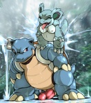 2016 blastoise dark_nek0gami eyes_closed female male nidorina nintendo penis pokémon saliva size_difference tongue tongue_out video_games water water_jacking wetRating: ExplicitScore: 0User: NumerothDate: August 24, 2016