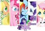 <3 angel_(mlp) applejack_(mlp) black_eyes blonde_hair blue_eyes blue_fur blush cover cover_page crossgender cyan_body cyan_eyes dragon earth_pony equine female feral fluttershy_(mlp) friendship_is_magic fur green_eyes group hair horn horse male mammal multicolored_hair my_little_pony one_eye_closed open_mouth orange_fur pegasus pink_fur pink_hair pinkie_pie_(mlp) pony purple_fur purple_hair purple_scales rainbow_dash_(mlp) rainbow_hair rarity_(mlp) red_eyes scales scalie simple_background smile spike_(mlp) sweat sweatdrop tongue twilight_sparkle_(mlp) two_tone_hair unicorn white_background white_fur wings wink xxangeluciferxx yellow_fur  Rating: Safe Score: 7 User: Fluttershy Date: May 20, 2013