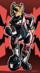 armor biker boots bulge canine clothing footwear fox frankieancelotti gloves grin helmet leather male mammal pose rubber skinsuit smile tight_clothingRating: SafeScore: 1User: YoshiOwnsDate: April 24, 2018