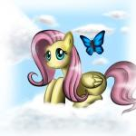arthropod blue_eyes butterfly cloud cute cutie_mark equine female feral fluttershy_(mlp) friendship_is_magic frozenserenade fur green_eyes hair horse insect mammal my_little_pony outside pegasus pink_hair pony shaded sky smile wings yellow_fur   Rating: Safe  Score: 5  User: Jatix  Date: March 09, 2014