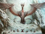 dragon feathered_wings feathers filip_burburan ice macro magic_the_gathering martial_arts official_art ojutai signature size_difference snow spread_wings wings   Rating: Safe  Score: 7  User: Shardshatter  Date: March 30, 2015