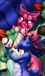 alternate_color ball_gag bdsm birdo bondage bound breasts color edit female female_only gag garter_belt human interspecies mammal mario_bros nintendo peril photoshop princess_peach rope rubber shax_(artist) video_games vore  Rating: Explicit Score: 3 User: Iam-Princess-Peach Date: July 27, 2015