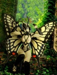 antennae anthro arthropod black_body breasts butterfly butterfly_wings creepy detailed_background edit female forest insect insect_wings micro nature nipples outside photo_manipulation photomorph plant proboscis silverfish_(artist) solo swallowtail tree what_has_science_done wings wood yellow_bodyRating: QuestionableScore: 4User: MarblesDate: August 30, 2009