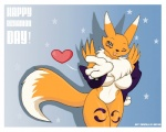 2012 anthro breasts canine day digimon droll3 female fox fur kissing mammal nude renamon solo white_fur yellow_fur   Rating: Safe  Score: 5  User: Pinki-Husky  Date: April 05, 2012