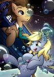 2014 ? blonde_hair blue_eyes brown_fur brown_hair bubble cutie_mark derp_eyes derpy_hooves_(mlp) doctor_whooves_(mlp) duo earth_pony equine female floating friendship_is_magic fur grey_fur hair horse liquid male mammal my_little_pony necktie outside pegasus pony secret-pony sonic_screwdriver space star wings yellow_eyes  Rating: Safe Score: 20 User: 2DUK Date: June 14, 2014""