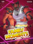 2019 anthro anthrofied biceps black_body black_fur bottomwear brother brothers bulge claws clothed clothing comic cover cover_page duo fire front_view fur hi_res incineroar looking_at_viewer male muscular muscular_male nintendo pants pecs pokémon pokémon_(species) red_body red_fur same_evolution_group shirt sibling smile stripes tank_top text topless topwear torracat underwear video_games zourik