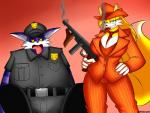 2015 <3 anthro big_breasts big_the_cat breasts canine cat cigar cleavage clothed clothing crossgender dead duo feline female fox grin gun looking_at_viewer male mammal miles_prower ranged_weapon smile smoking sonic_(series) supersonicrulaa weapon   Rating: Questionable  Score: 1  User: Robinebra  Date: April 03, 2015