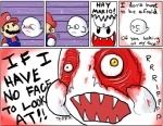 blood boo_(mario_bros) comic english_text fangs ghost gore hat humor male mario mario_bros nintendo open_mouth source_request spirit teeth text unknown_artist video_games   Rating: Questionable  Score: 15  User: Hiatuss  Date: April 06, 2013