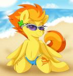 2015 clothed clothing equine female feral friendship_is_magic looking_at_viewer mammal my_little_pony pearlyiridescence pegasus skimpy smile solo spitfire_(mlp) wings wonderbolts_(mlp)  Rating: Questionable Score: 7 User: Robinebra Date: July 22, 2015