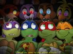 anthro avian bandage bear bird blue_eyes canine chica_(fnaf) chicken donatello_(tmnt) eating english_text eyes_closed female five_nights_at_freddy's food fox foxy_(fnaf) freddy_(fnaf) green_eyes group lagomorph leonardo_(tmnt) machine male mammal mechanical michelangelo_(tmnt) pizza purple_eyes rabbit raphael_(tmnt) red_eyes reptile robot scalie scared teenage_mutant_ninja_turtles teeth text tongue turtle video_games xiamtheferret yellow_eyes   Rating: Safe  Score: 16  User: DeltaFlame  Date: February 16, 2015