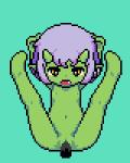 animated cum green_background green_skin hair hindpaw horn looking_at_viewer loop navel nude paws penetration plain_background purple_hair pussy suspension vaginal vaginal_penetration yellow_eyes young 赤井   Rating: Explicit  Score: 12  User: RagaSonic  Date: March 05, 2014