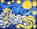 2016 absurd_res derpy_hooves_(mlp) eating equine female feral food friendship_is_magic hi_res jadedjynx mammal muffin my_little_pony pegasus solo the_starry_night wings  Rating: Safe Score: 5 User: 2DUK Date: April 18, 2016