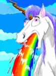 cloud equine feral hair horn horse male open_mouth pain pink_eyes purple_hair rainbow sky solo technicolor_yawn unicorn unknown_artist vomit   Rating: Safe  Score: 2  User: mandarin  Date: January 12, 2010