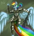 anthro anthrofied armor blue_feathers blue_fur crossover digital_media_(artwork) equine feathers female friendship_is_magic fur hair mace mace_of_molag_bal mammal melee_weapon multicolored_hair my_little_pony pegasus poisindoodles rainbow_dash_(mlp) rainbow_fur rainbow_hair skyrim solo the_elder_scrolls video_games weapon wings  Rating: Safe Score: 15 User: Sinwolf13 Date: March 03, 2015