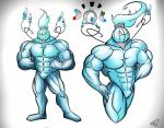 ! 2016 4_fingers abs absurd_res alternate_species ambiguous_gender animate_inanimate biceps big_biceps blue_eyes blue_fire chandelure colored cute digital_drawing_(artwork) digital_media_(artwork) duo eyebrows featureless_chest featureless_crotch fist front_view grey_background hi_res hrrb huge_muscles humanoid humanoidized larger_male light looking_at_viewer magnemite male manly metal muscular muscular_male naturally_censored nintendo noseless object_head pecs pokémon pokémon_(species) pokémorph pose quads serratus shaded sheen_(hrrb) shiny_body signature simple_background size_difference solo_focus standing thick_neck toony video_games white_background yellow_eyes